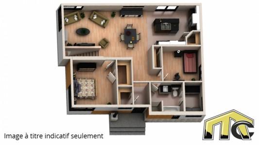 Maison 2 chambres aires de vie arrière