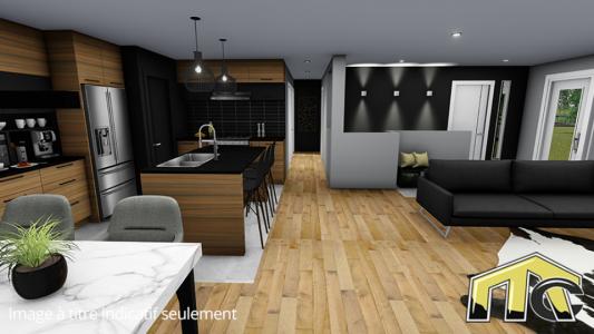 Maison usinée 2 chambres aires ouvertes