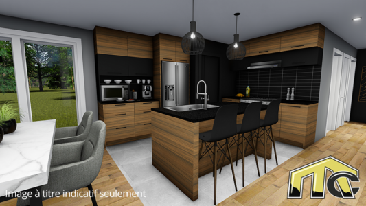 Maison usinée 2 chambres cuisine