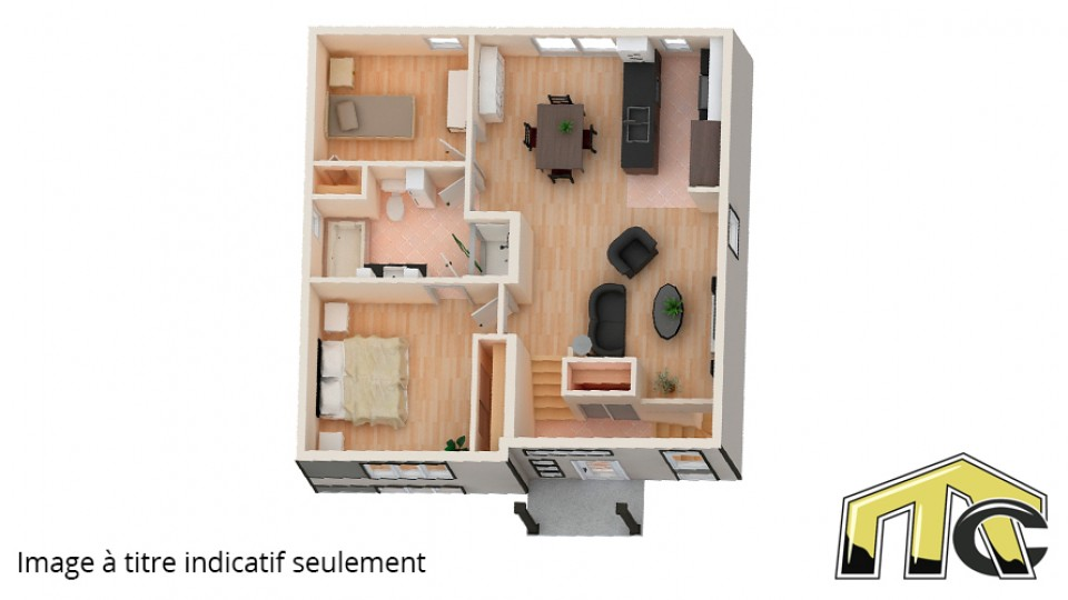 Unique contemporain plan