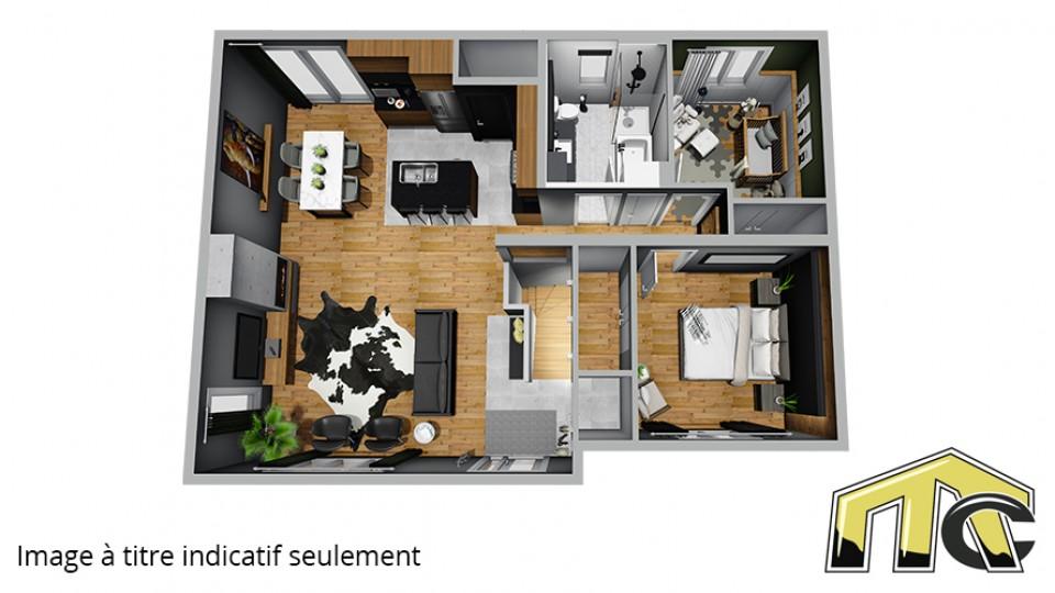 plan maison usinée 2 chambres