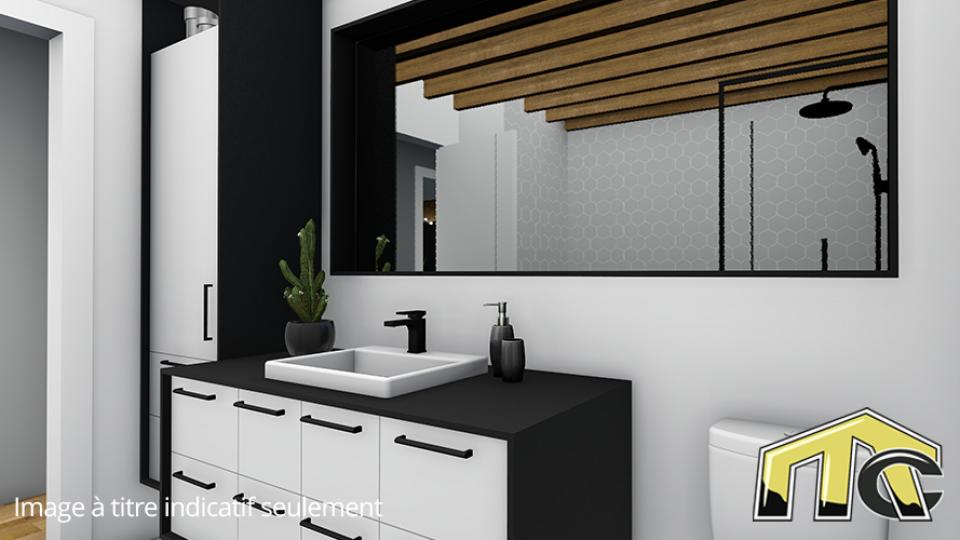 Maison usinée 2 chambres salle de bain